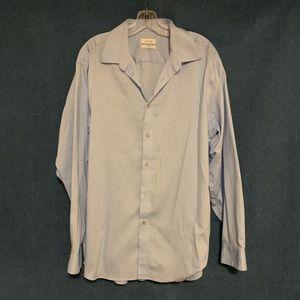Men's Light Blue Dress Shirt 17.5 34-35 Large